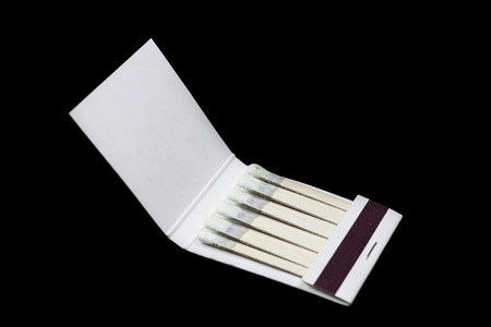 Matchbook on a black background photo