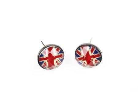 union jack: Union jack flag earrings  Design