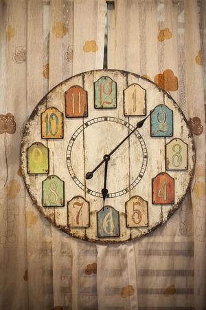 wooden clock: Old wooden clock