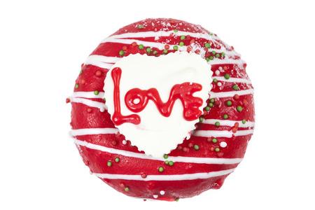 Chocolate of love in heart. photo