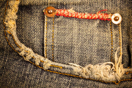 ripped jeans: Jeans pocket.