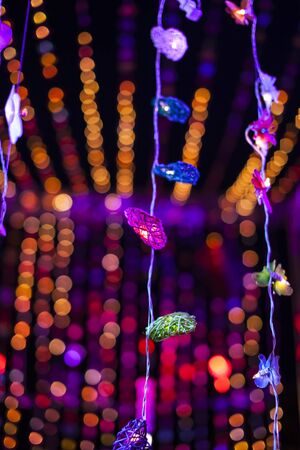 colorful lights: Defocused bokeh colorful lights.