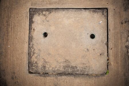 full of holes: Concrete ground texture background. Stock Photo