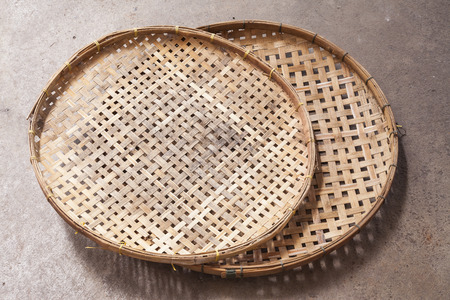 osier: Thai threshing basket. Stock Photo