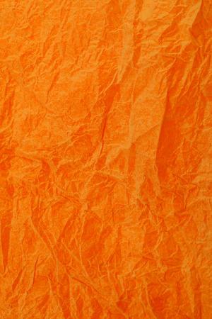 obsolete: Crumpled vintage Orange paper textured obsolete background. Stock Photo