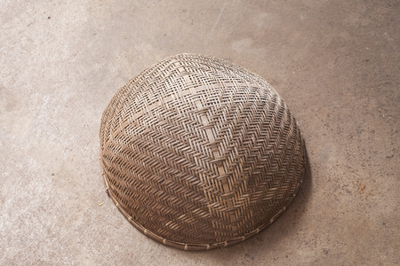 threshing: Thai threshing basket. Stock Photo
