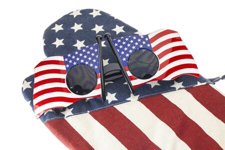 0bb92ab9a0fae Glasses Stripes American Flag On White Background Stock Photo ...