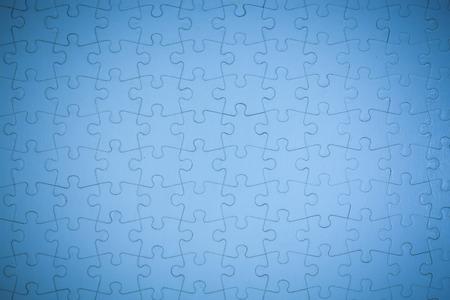 Blue Jigsaw puzzle background. Banco de Imagens