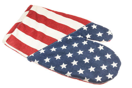 resistant: American flag pattern kitchen gloves heat resistant.