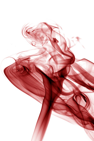 fumes: Red toxic fumes movement.