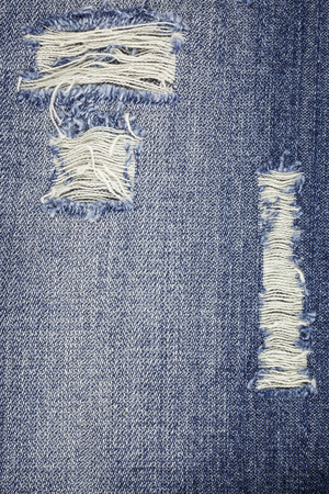 Denim zerrissen Blue Jeans Textur. Standard-Bild - 44004149