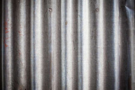 grooved: Texture old zinc background. Stock Photo