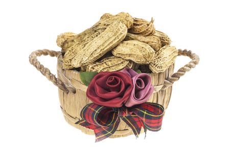 goober peas: Peanuts in a basket