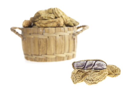 goober: Peanuts in a basket