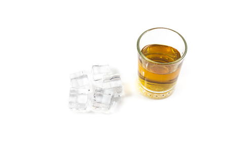 ices: whiskey in glass with ices