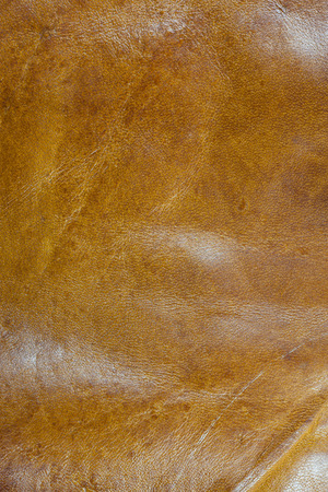brown leather texture: Real brown leather background.