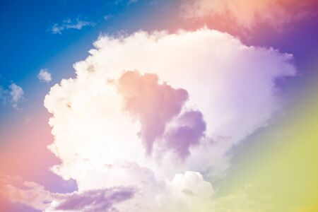cataclysm: Beautiful colorful sky and clouds background. Stock Photo