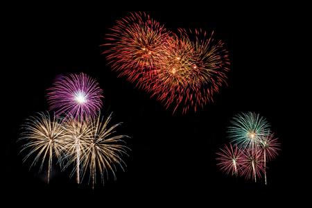 Celebration fireworks up the night sky.