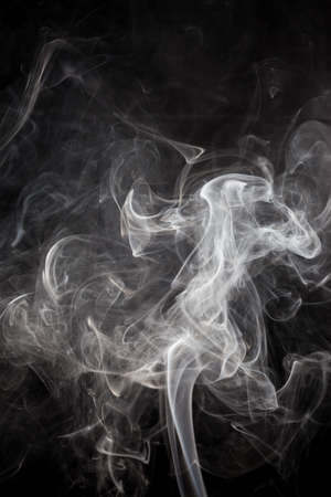 black smoke: White smoke on a black background.