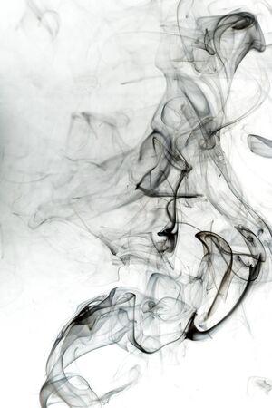 fumes: Toxic fumes movement on white background.