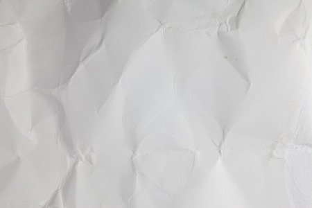 creased: Background from white creased paper texture. Stock Photo