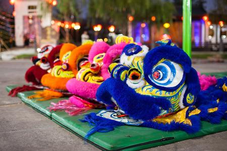 dance costume: Chinese Lion dance costume show.