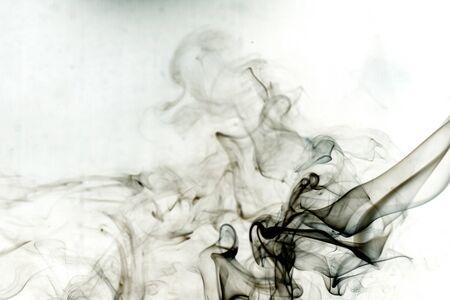 toxic: Toxic smoke on white background.