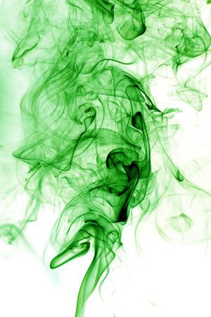 fumes: Toxic fumes green on a white background. Stock Photo