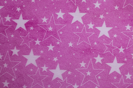 watercolour background: Star on pink paper gift wrap for background.