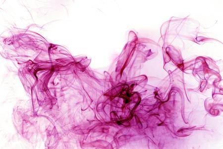 Rosa Rauch Bewegung auf einem weißen Hintergrund. Standard-Bild - 57450862