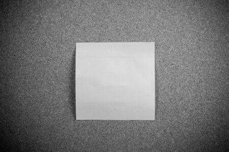 sticky note: Sticky note on cork board