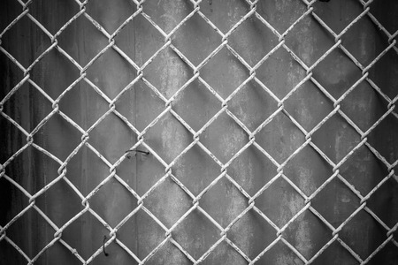 chain fence: Chain fence, Steel mesh fence, Steel wire mesh on rusty galvanized background, Rusty background