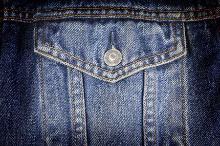 denim jeans: Blue jeans pocket ,Blue torn denim pocket jeans texture, Back pocket of blue jeans. Stock Photo