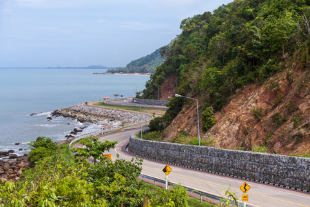 along: The road along beautiful beaches in Thailand.