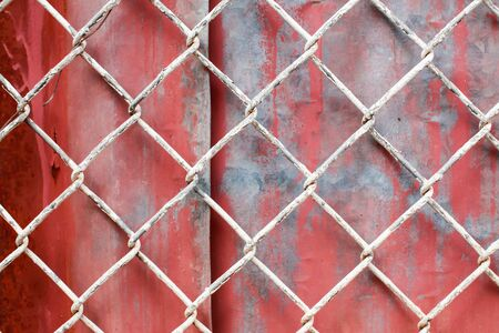zinc: Chain Fence with zinc Background.