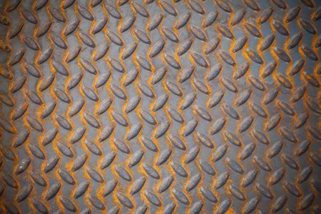 patter: Non-slip Steel Plate, Steel surface plates non slip patter. Stock Photo