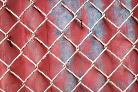chain fence: Chain Fence with zinc Background.