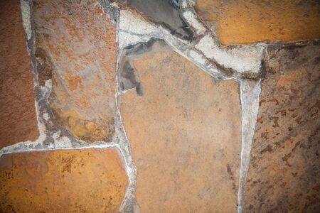 cladding: Stone Cladding wall texture design. Stock Photo