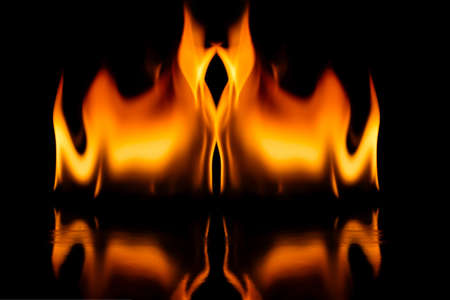 orange inferno: Fire flames Stock Photo