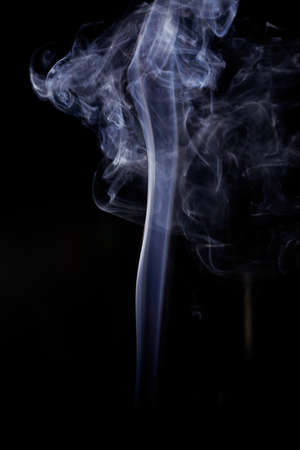air plane: Movement of white smoke. Stock Photo
