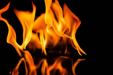 flammable: Fire flames Stock Photo
