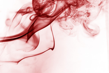 Red smoke movement on a white background.