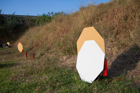 Clean target for battle shooting, IPSC target shooting guns.