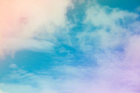 Bunter Himmel und Wolken.