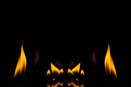 Fire flame on black background, Fire, Flame