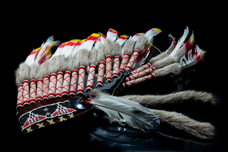 indian chief mascot: Hat  indian, indian chief head
