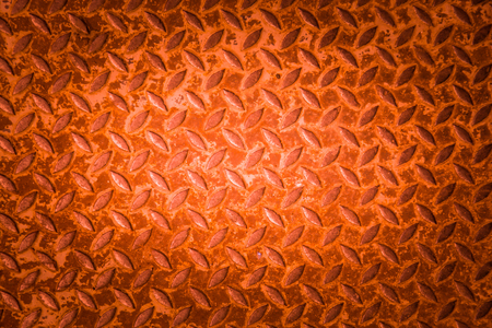 diamond plate: Red metal non slip surface background.