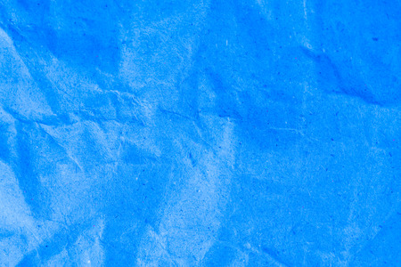 dirty sheet: Blue vignette crumpled paper. Stock Photo