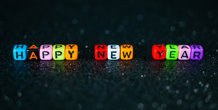 Happy New Year Colorful. Standard-Bild - 114449716