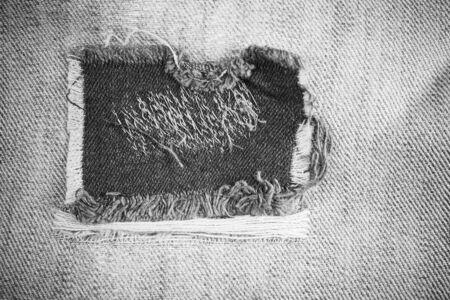 Denim texture, Jeans torn background.
